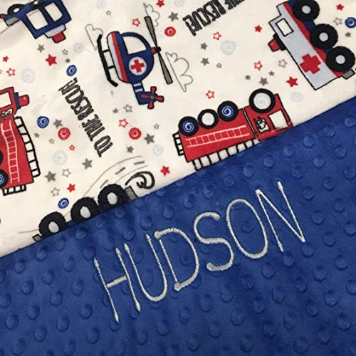 Personalized Firefighter Baby Blanket