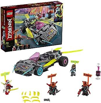 Oferta amazon: LEGO Ninjago - Coche Ninja Tuneado, Juguete de Construcción de Vehículo Ninja para Recrear Aventuras de la Serie, Incluye Minifiguras de Digi Kai y Scott, entre Otros (71710)