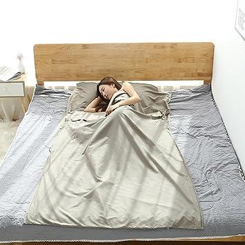 GEZICHTA - Saco de dormir ideal para acampada, relleno y transpirable, para viajes,