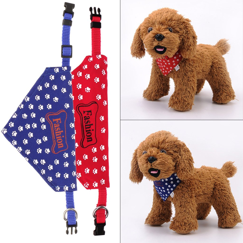pa/ñuelo para el Cuello Accesorios para Mascotas pa/ñuelo para Gatos Collar Ajustable para Perro Toalla de Saliva para Mascotas Tandou
