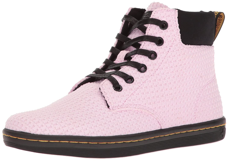 Dr. Martens Women's Maelly Wc Boot B01L376YYO 6 UK/8 M US|Bubble Gum+black