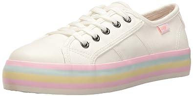 91e25853bc2 Rocket Dog Women s Magic Canvas Pastel Foxing Fashion Sneaker White 7 M US