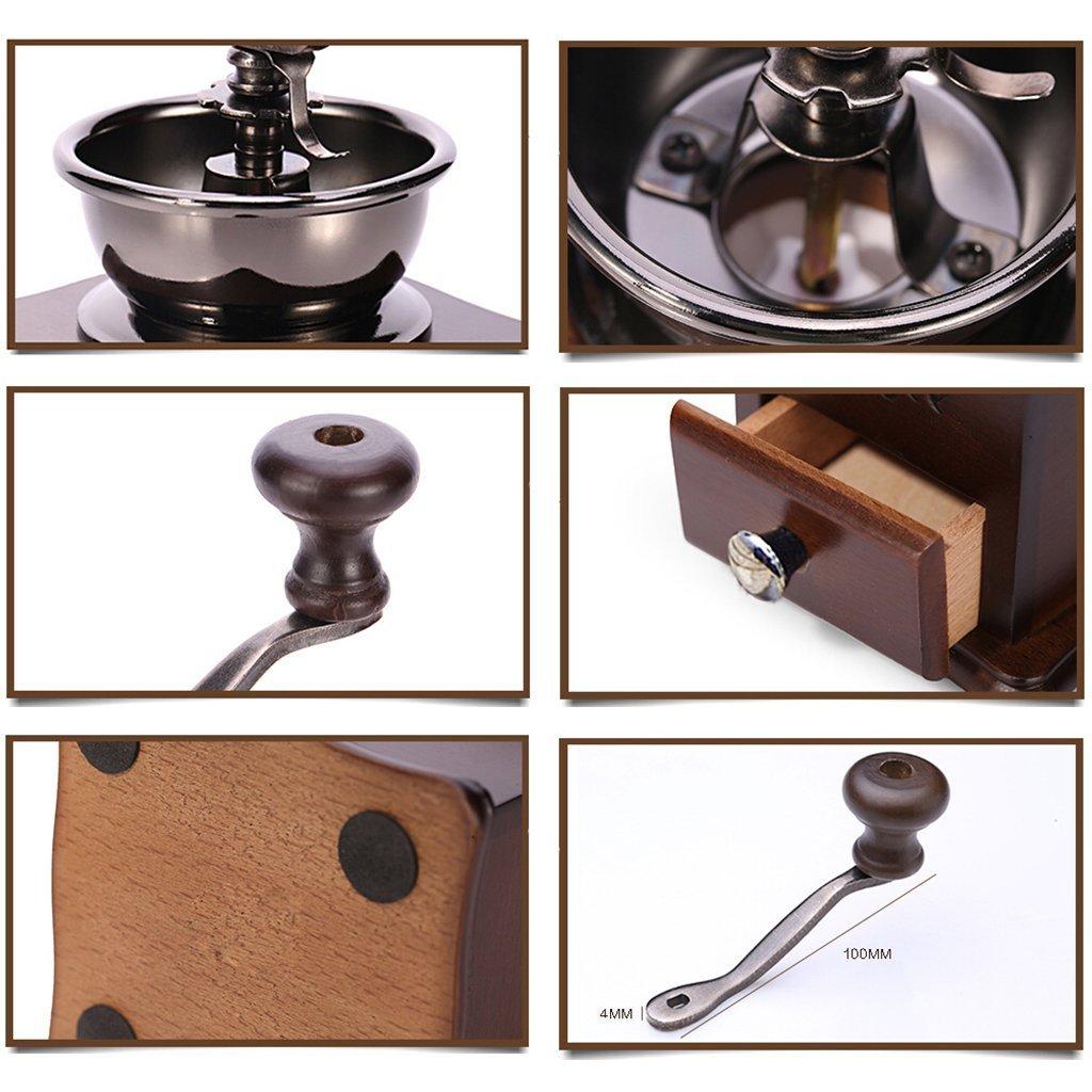 KT Lifebe antiguo molino de café de madera Mini mano de estilo de la amoladora de la haba del molino de la máquina de café de la haba: Amazon.es: Hogar