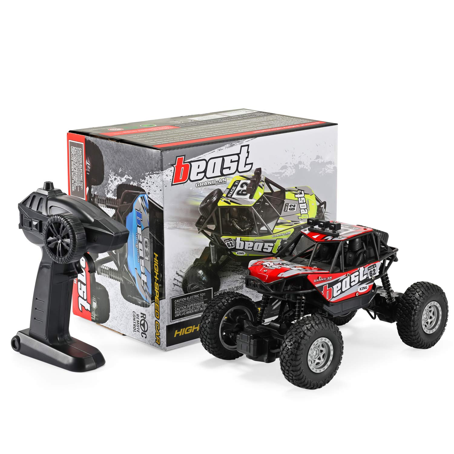 Dennov RC Truck Car Remote Control Truck Car Red 1//20 Scale Rechargeable RC Crawler Toy Car for Adults /& Kids