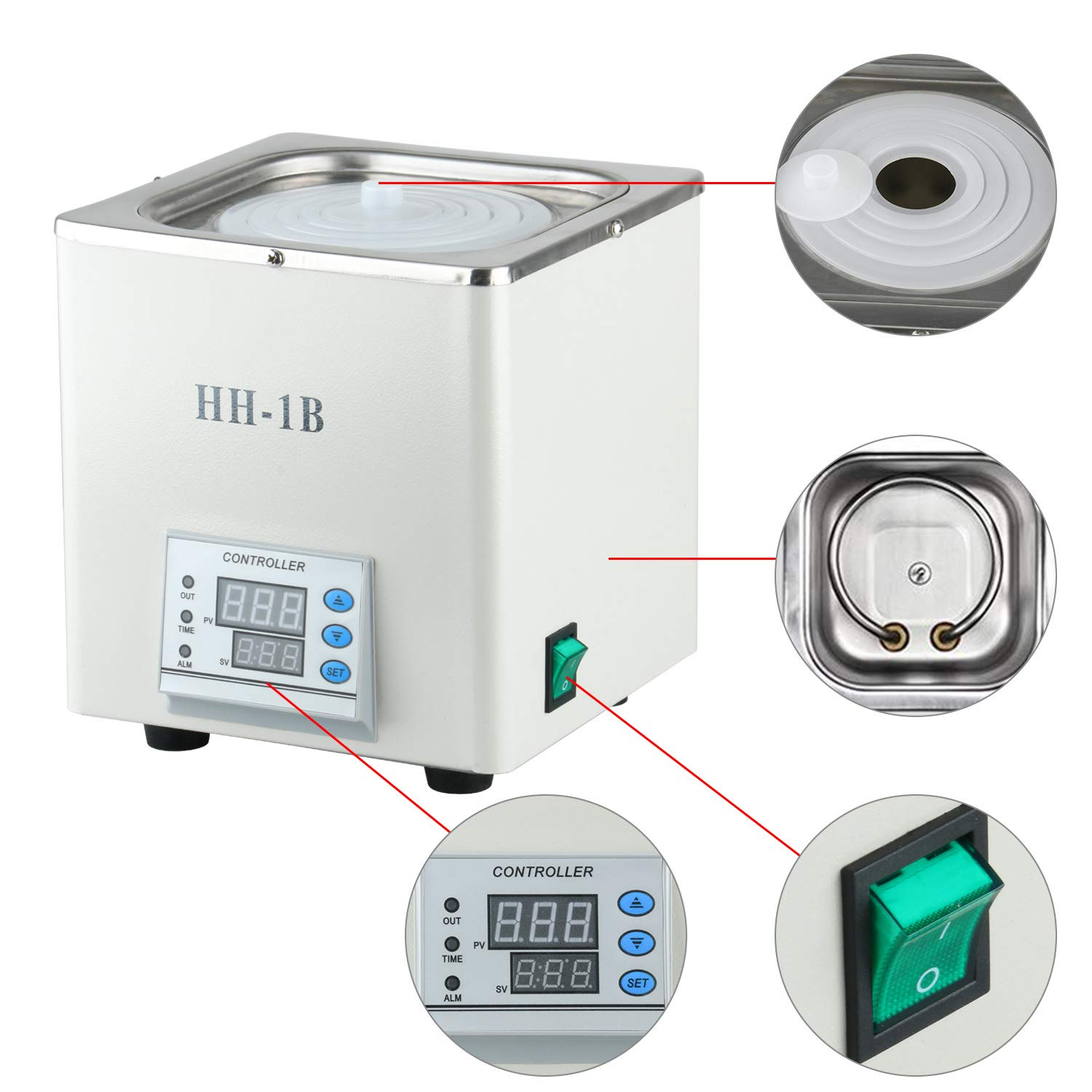 1 Chamber with 2 Openings 110V Faithful Digital Thermostatic Water Bath