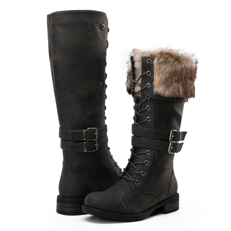 Global Win Women's Fashion Winter Boots (8.5 D(M) US Women's, YY02Grey)