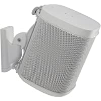 Sanus Adjustable Speaker Wall Mount Designed for SONOS ONE, Play:1 & Play:3 - Single (White)