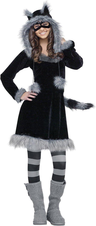 GIRLS RACCOON DRESS COSTUME SIZE SMALL MEDIUM