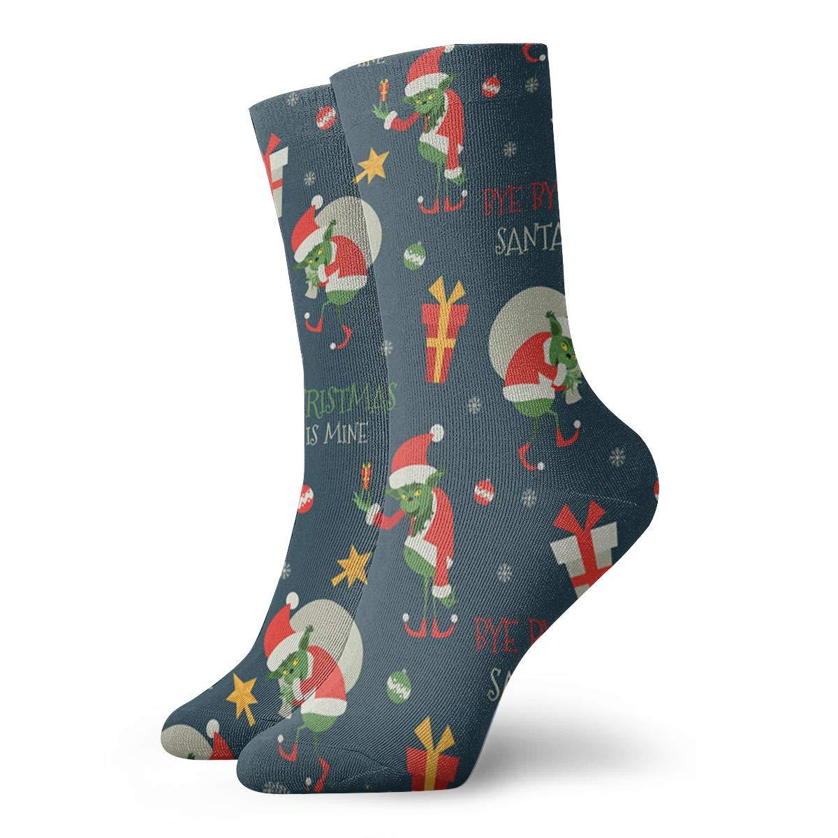 Santa Claus Unisex Funny Casual Crew Socks Athletic Socks For Boys Girls Kids Teenagers
