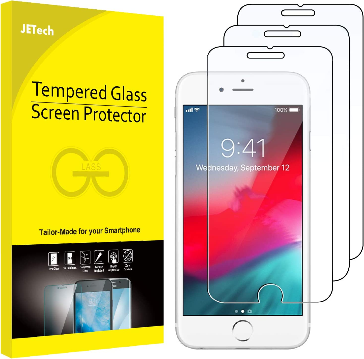 Amazon Com Jetech 3 Pack Screen Protector For Iphone 8 Plus Iphone 7 Plus Iphone 6s Plus And Iphone 6 Plus Tempered Glass Film 5 5 Inch