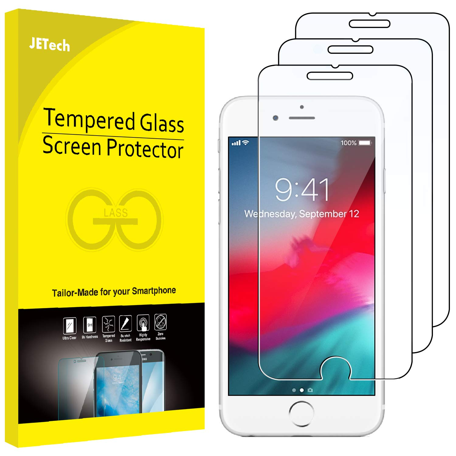 6cdf758bfed Amazon.com  JETech 3-Pack Screen Protector for Apple iPhone 8 Plus ...