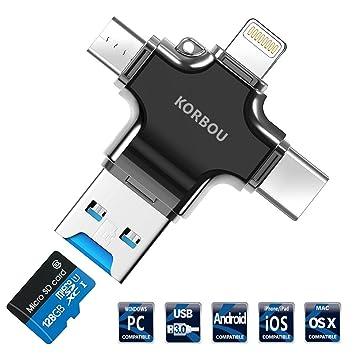 Amazon.com: Card Reader, 4 en 1 lector de tarjetas micro sd ...