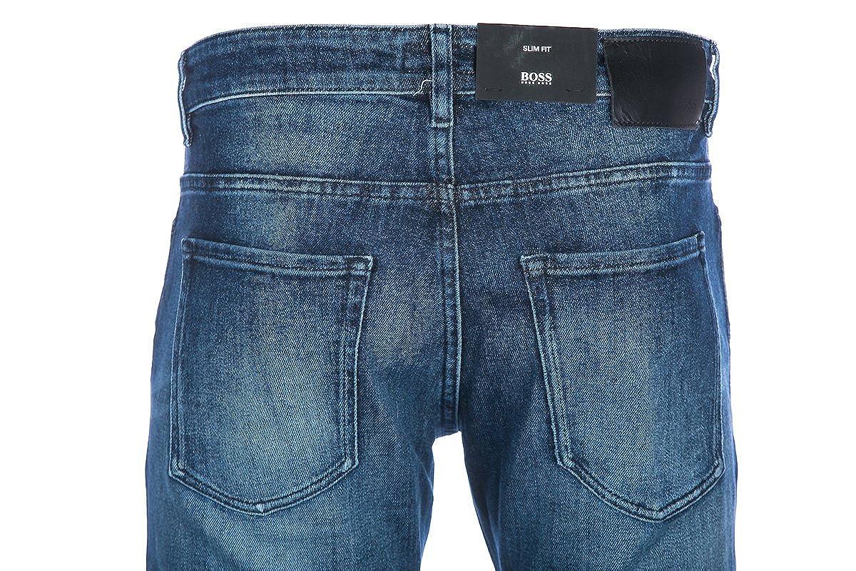 Hugo Boss Men Slim Jeans DELAWARE3 50302730 Size 32/30 Blue: Amazon ...