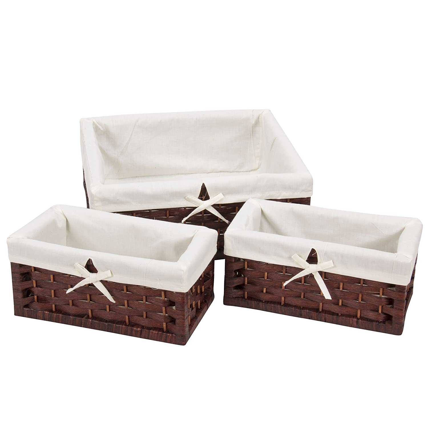 Amazon.com: Household Essentials ML-7021 Set of Three Wicker Storage ...