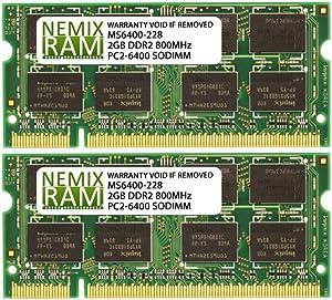 NEMIX RAM 4GB 2X2GB DDR2 800 PC2-6400 Memory for Apple iMac 2008 Core 2 Duo 8,1