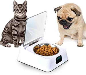 Stainless Steel Portable Pet Dog, Cat Outdoor Travel Water Bowl, Bottle Feeder for Drinking, Eco-Friendly Pet Feeder Bowl, Pet Safe Bowl for Dogs and Cats Microchip Pet Feeders Smart Healthy Feeding