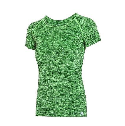 SUZone Camiseta de Deporte para Mujer Yoga Top de Manga ...