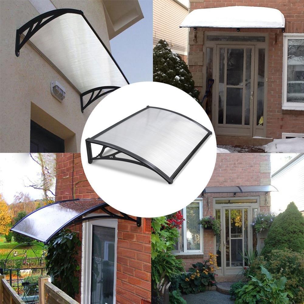 Yaheetech Outdoor Cover Door Window Garden Canopy Patio Porch Awning Rain Shelter Black