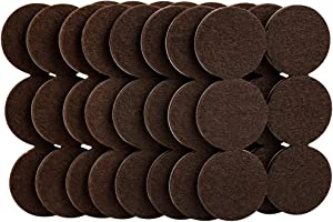 SoftTouch 4758595N 1-1/2 Inch, Brown, 48 Pack Heavy Duty Felt Furniture Pads-Protect Hardwood and Linoleum Floors frim Scratches, 48 Piece