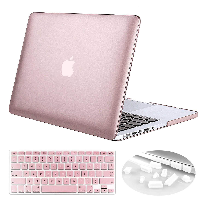 Slim Metallic Coated Hard Case Keyboard Cover For MacBook Pro 15 Retina A1398