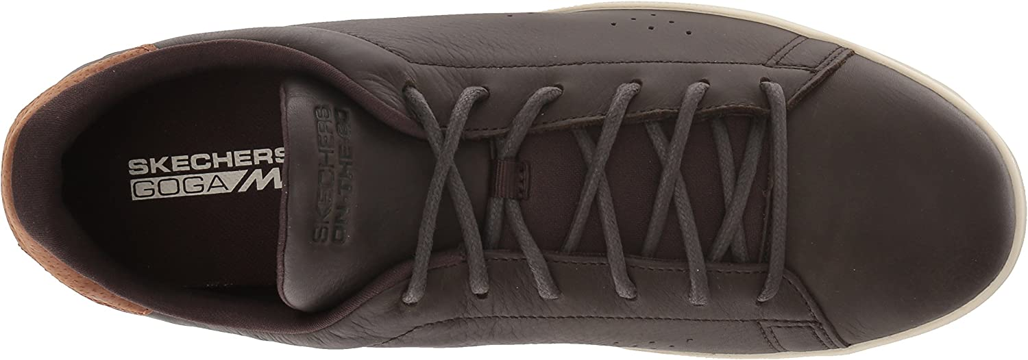 Skechers Men's 54345 Trainers Brown Chocolate Leather