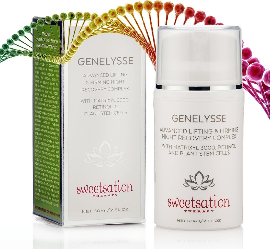 Genelysse Advanced Best Lifting and Firming Night Recovery Complex, with Matrixyl 3000, Retinol and Plant Stem Cells by Sweetsation Therapy