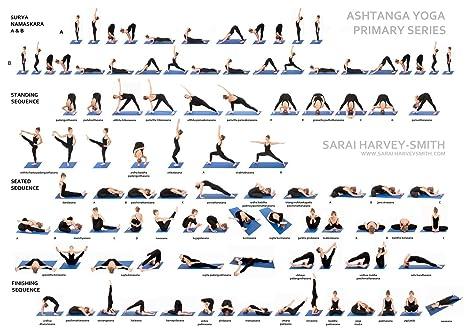 NewBrightBase Yoga Ashtanga Fabric Cloth Rolled Wall Poster Print - Size: (17