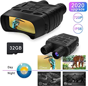 Night Vision Binoculars Hunting Binoculars-Digital Infrared Night Vision Hunting Binocular with Large Viewing Screen Can Take HD Image & 720p Video from 300m/984ft in The Dark with 32G Memory Card