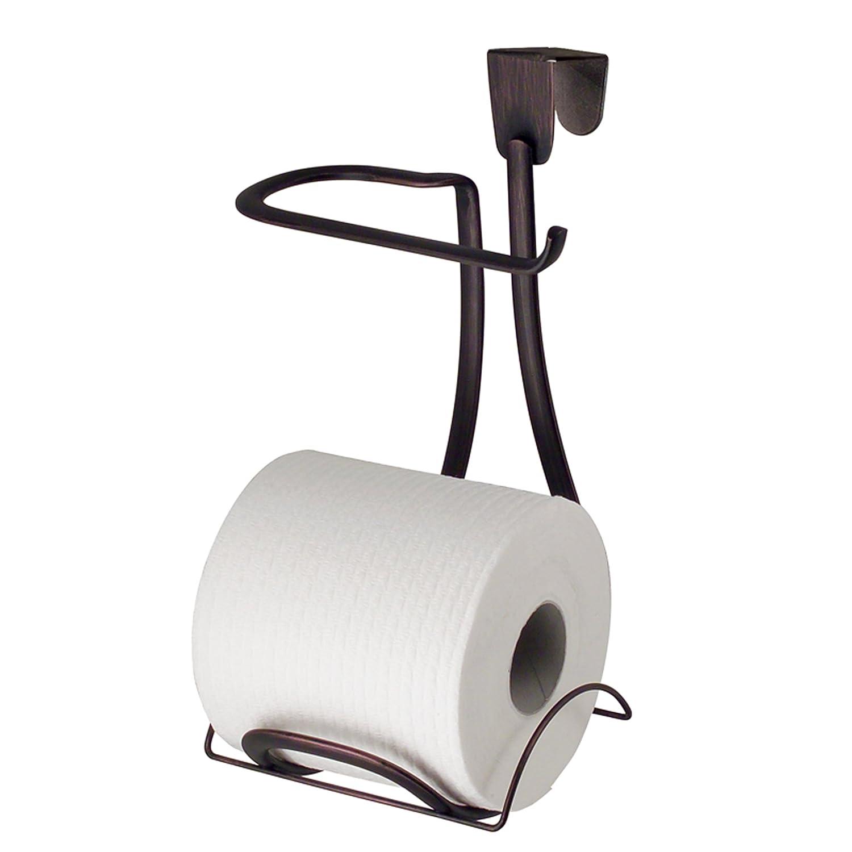 Amazon.com: InterDesign Axis Over Tank Toilet Paper Holder U2013 2 Roll Storage  For Bathroom, Bronze: Home U0026 Kitchen