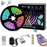 ZeroPlusOne® WaterProof LED Strip Lights 10M Ultra-Long LED Lights Strip Music Sync, SMD 5050 RGB, Bluetooth App Or…