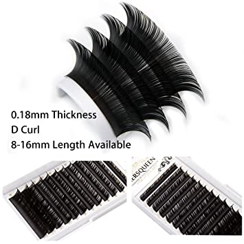 61659bce429 0.18 Individual Eyelash Extensions Faux Mink Salon Lash Tray C D Curl Silk  Lash Natural Semi Permanent