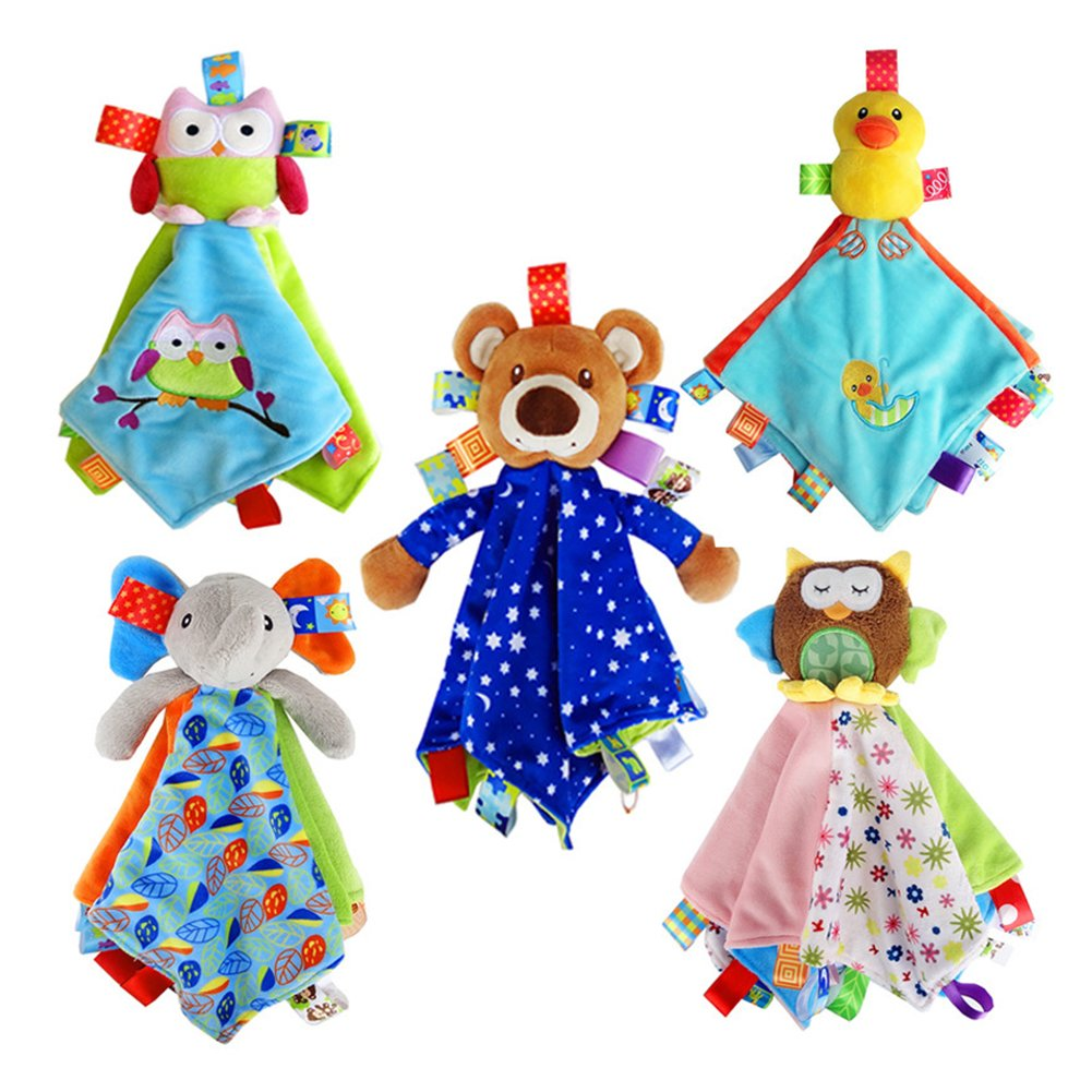 Infant Security Blanket for Boys and Girls with Adorable Teddy Bear Soothing and Fun【Bear】