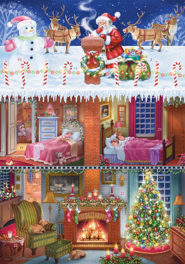 Up on the Rooftop Advent Calendar (Countdown to Christmas) Vermont Christmas Company