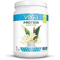 Vega Protein & Greens Vanilla (18 servings, 1.16 lb) - Plant Based Protein Powder, Gluten Free, Non Dairy, Vegan, Non Soy, Non GMO
