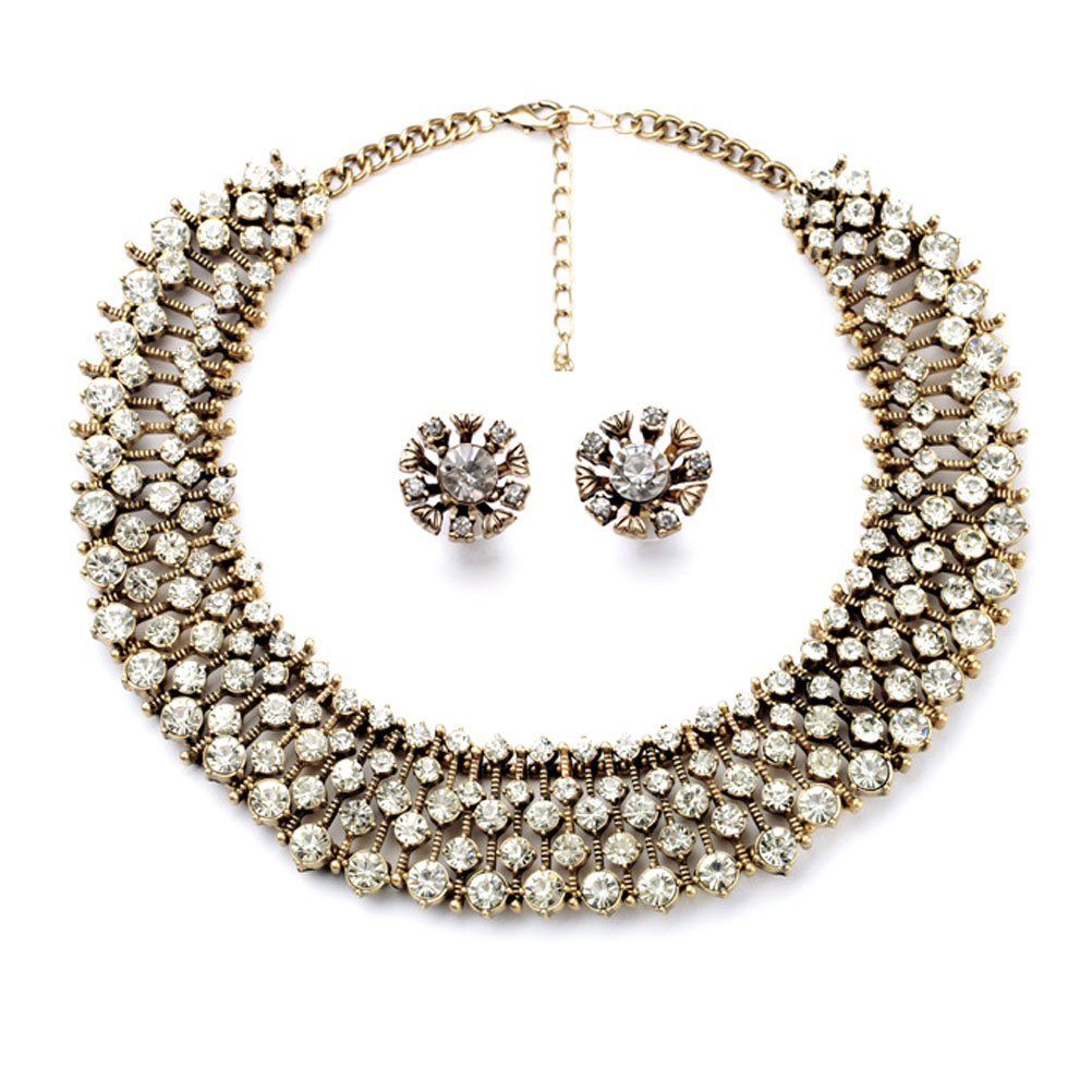 Charm.L Grace Classic Refinement Crystal Wild Collar Fashion Necklace