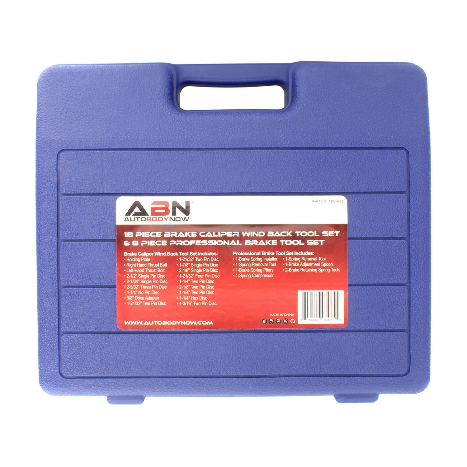 ABN Brake Tool Sets w/ 18 Pc Disc Brake Caliper Tool Kit & 8 Pc Drum Brake Tool Kit – Removal and Installation Tools by ABN (Image #6)