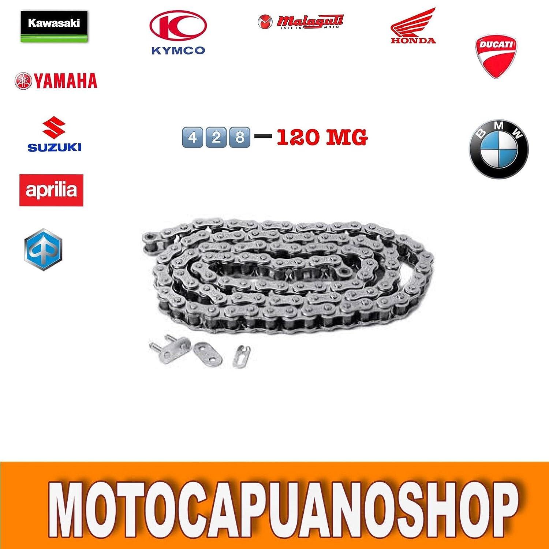 CATENA DI TRASMISSIONE MOTO KMC 420h 120L RINFORZATA PASSO 420 120 MAGLIE QUAD MotoCapuano 151620138165