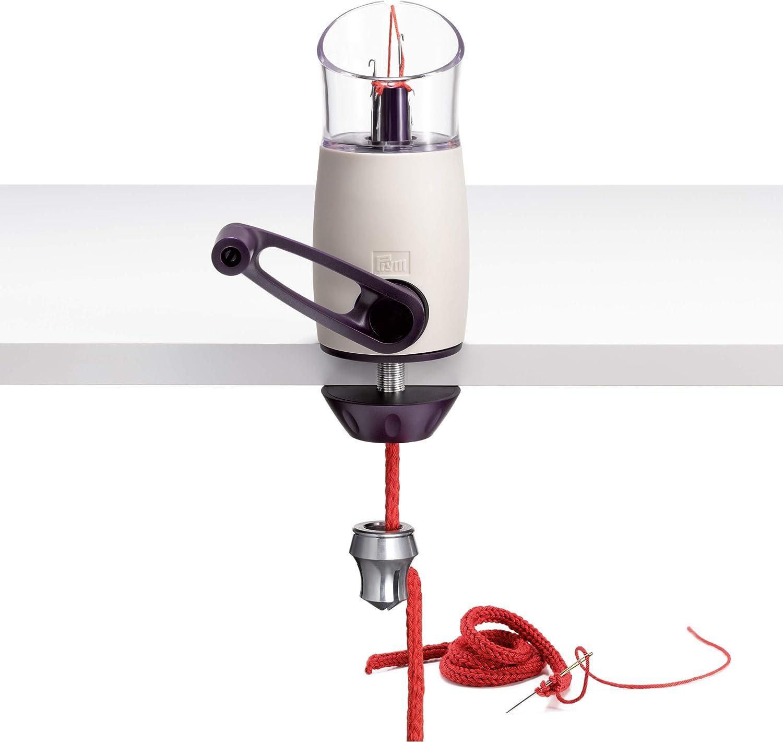 Prym Strickmühle Comfort Twist Molinillo para tejer, Violeta, blanco, talla única