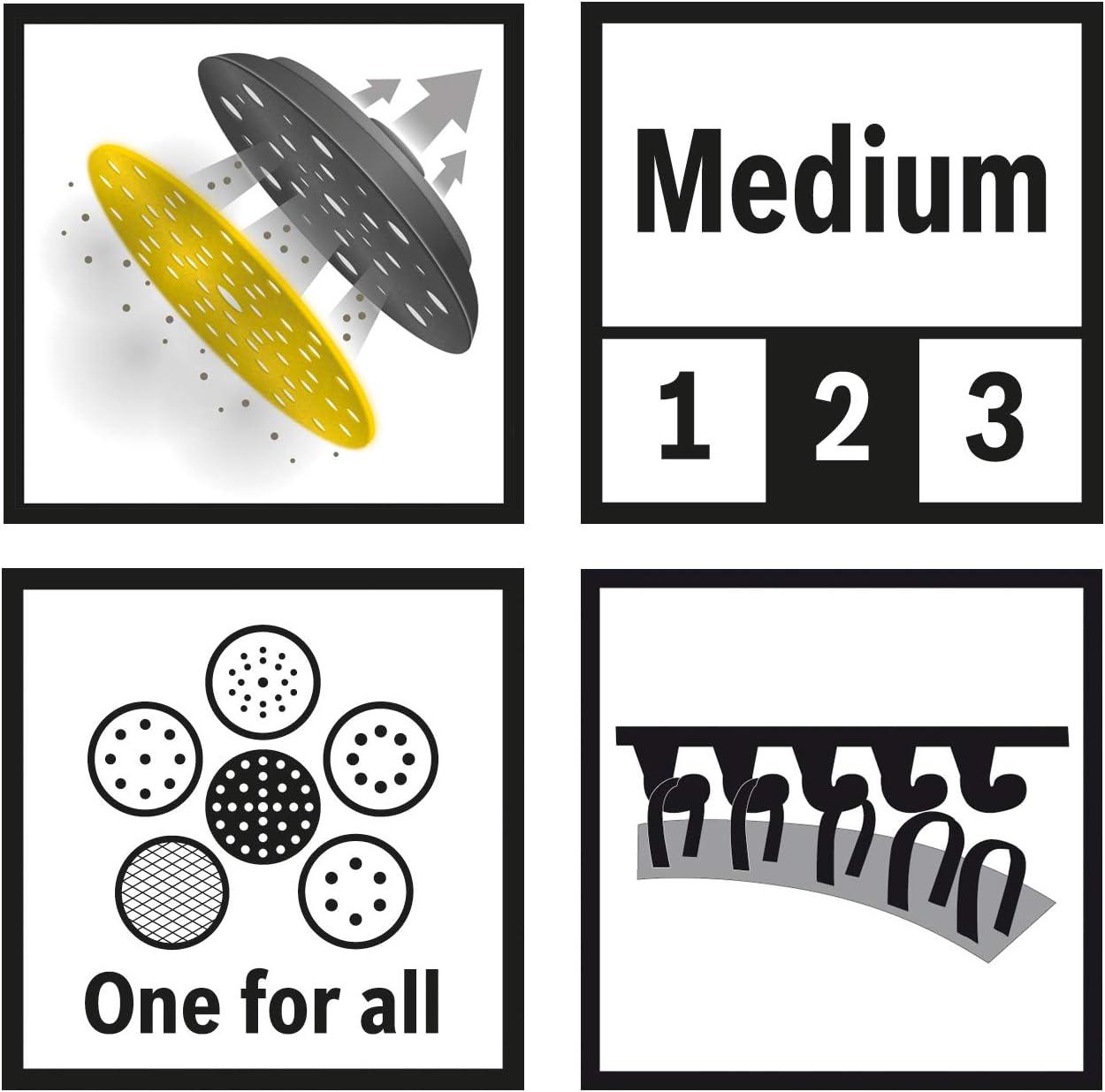 /Ø 150 mm, Medium, Velcro, Accesorios lijadoras exc/éntricas 0 V 0 W Bosch Professional 2608601569 Plato multiperforado