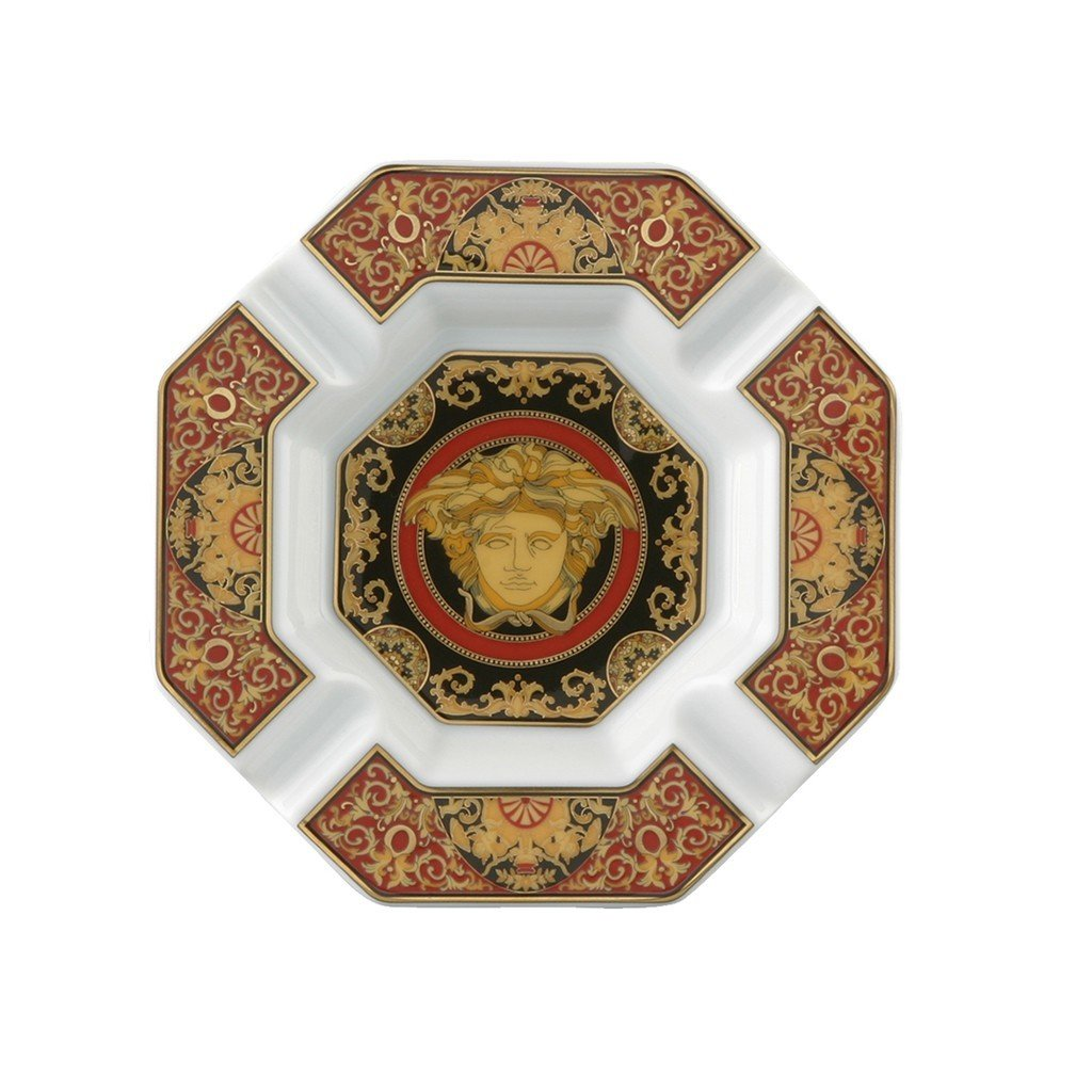 Versace by Rosenthal Medusa Red 5-1/2-Inch Ashtray by Rosenthal