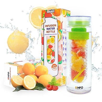 amazon com infuser water bottle sport bpa free tritan 27 oz empo