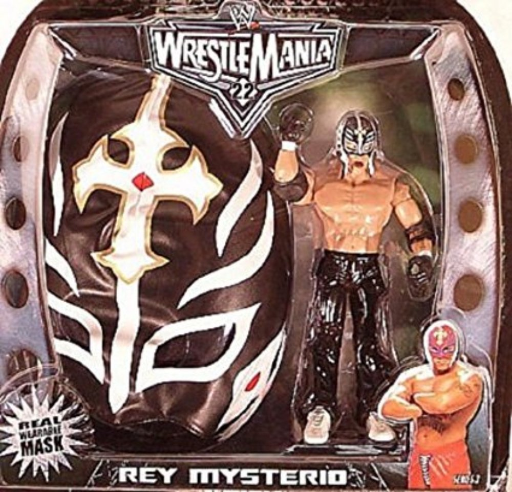 WRESTLEMANIA 22 REY MYSTERIO SERIES 3 WITH MASK