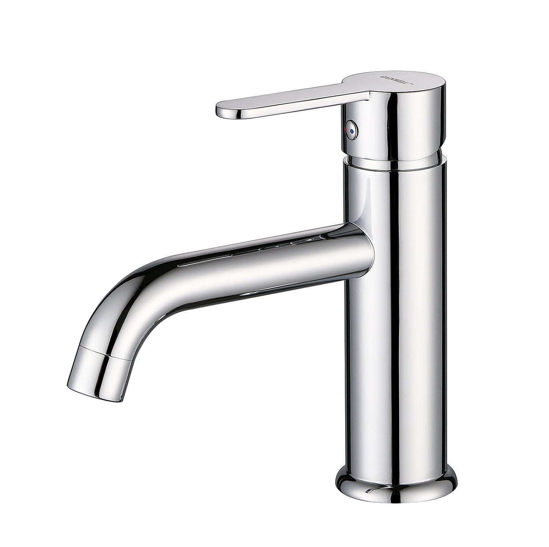 New Gainwell Billstar Solid Brass Bathroom Sink Faucet Single Hole Faucet For Bathroom