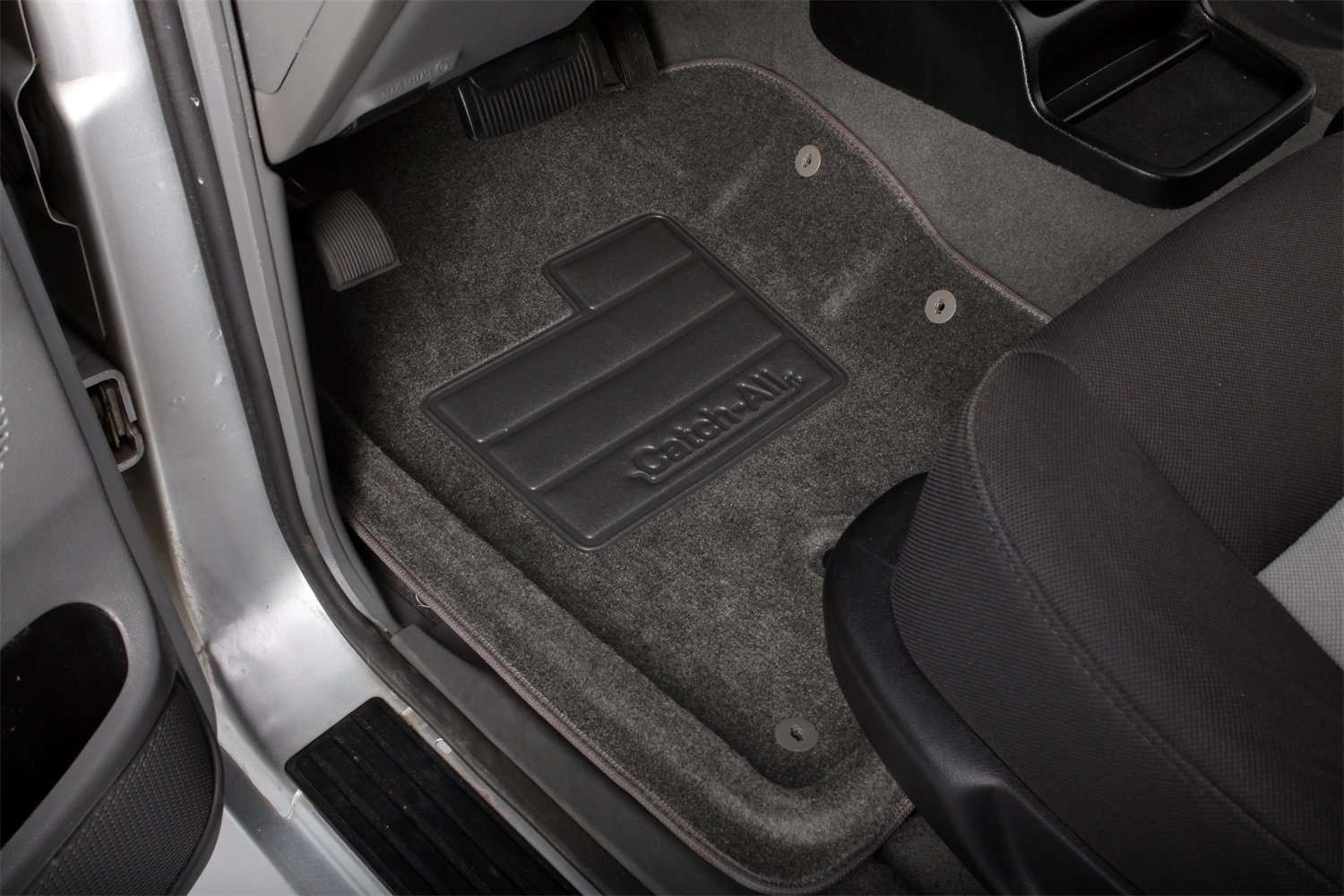 Lund 607343 Catch-All Charcoal Front Floor Mat Set of 2
