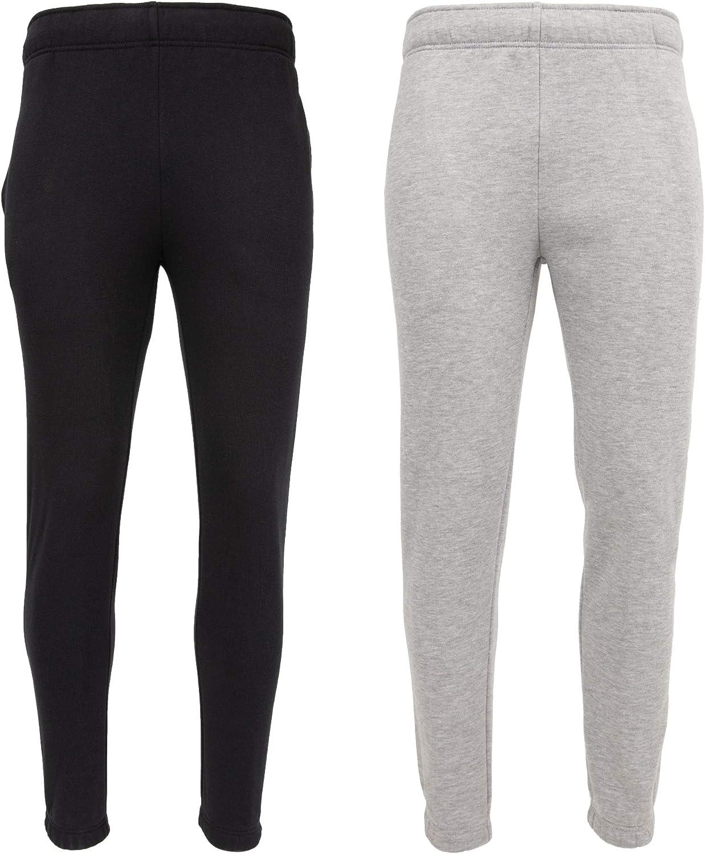 UNIPRO Men's Two Pack Basic Athletic Casual Fleece Sweatpant Multi Pack Set Jogger