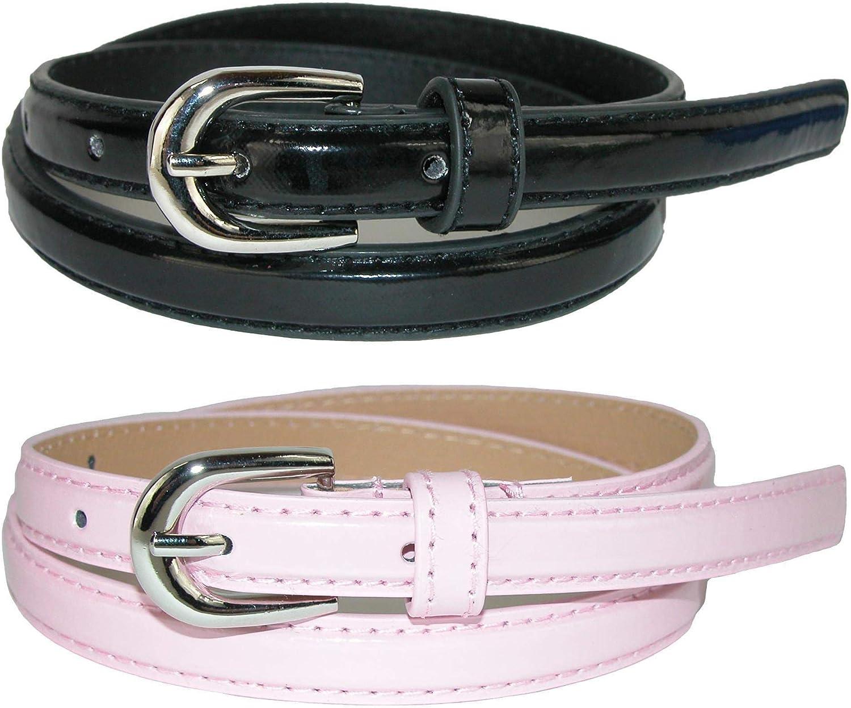 Pack of 2 Colors CTM Kids Skinny Dress Belt