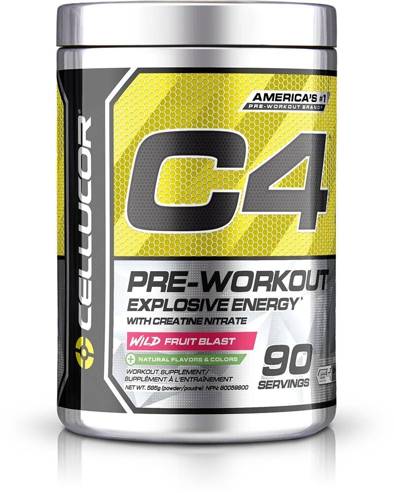 Cellucor C4 Original Pre Workout Powder Energy Drink w/Creatine, Nitric Oxide & Beta Alanine, Wild Fruit Blast, 90 Servings