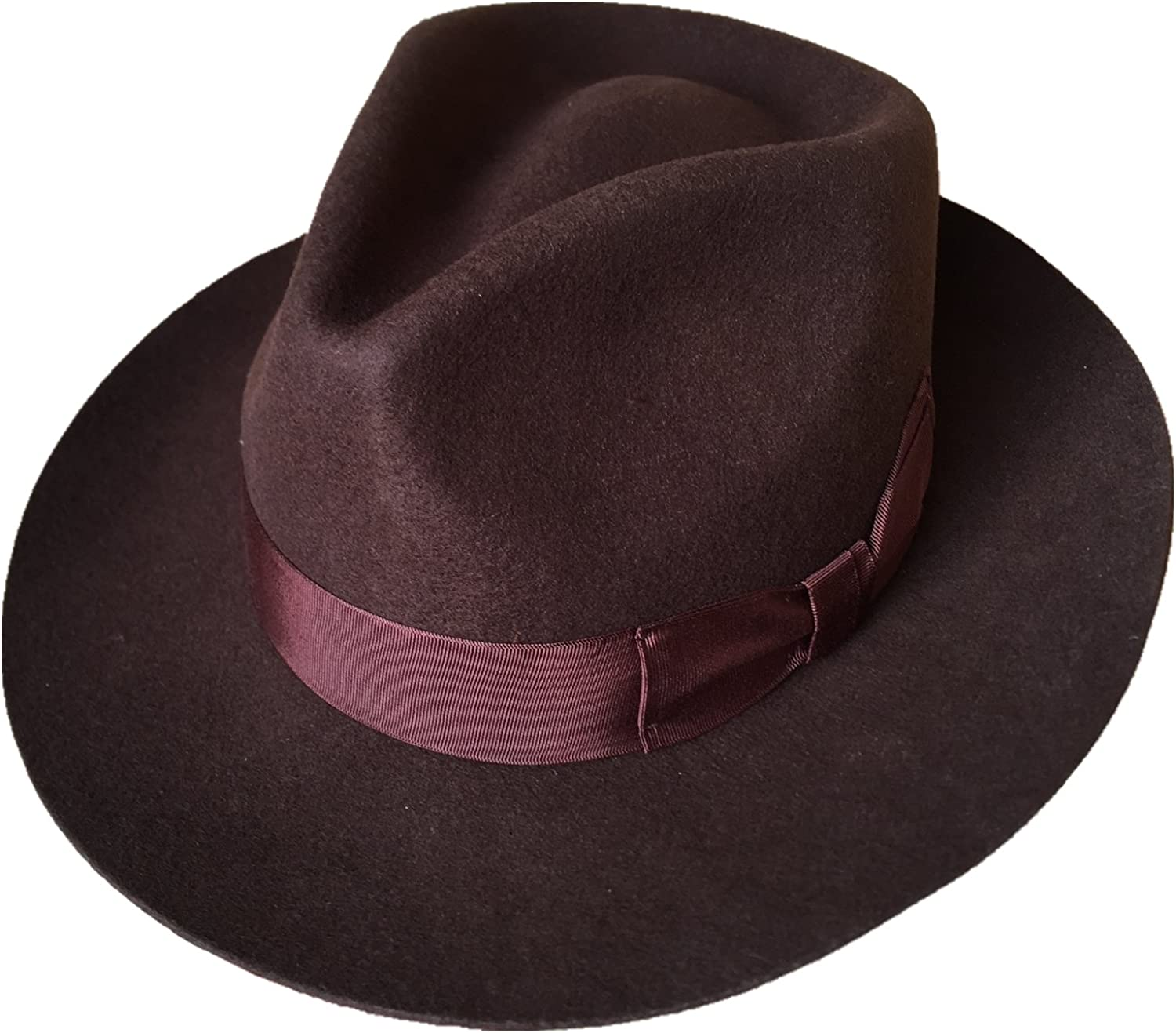 Many Colors Wool Felt Gentleman Gangster Godfather Fedora Hat