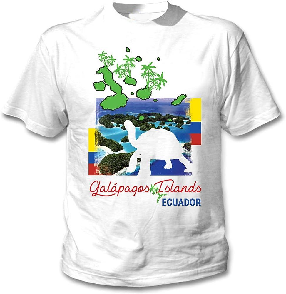 teesquare1st Galapagos Ecuador Camiseta Blanca para Hombre de Algodon Size Small: Amazon.es: Ropa y accesorios