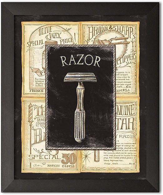 Grooming cuchilla, cama y baño Vintage Póster de anuncio baño ...